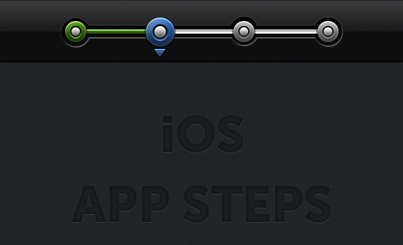 iOS App Steps PSD