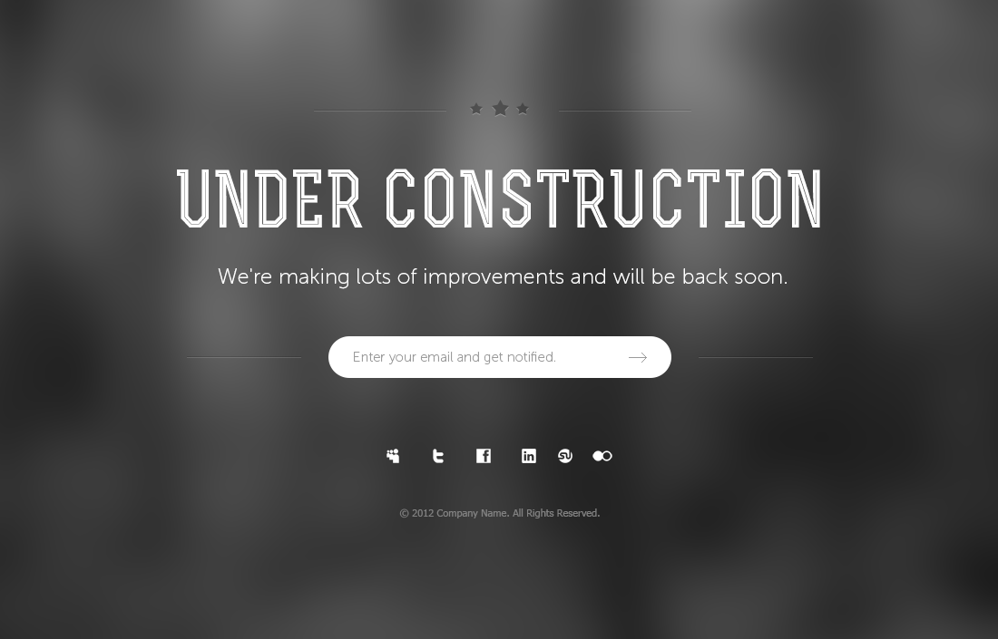 Under Construction Page PSD Template 04