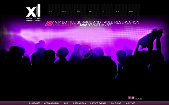 Night Club Websites Designs