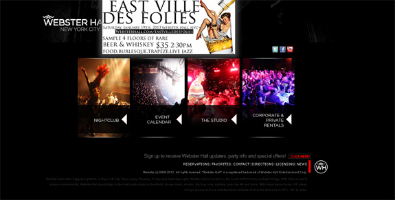 Night Club Websites