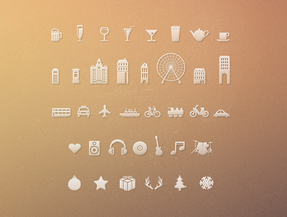 free-holiday-travel-icons-set