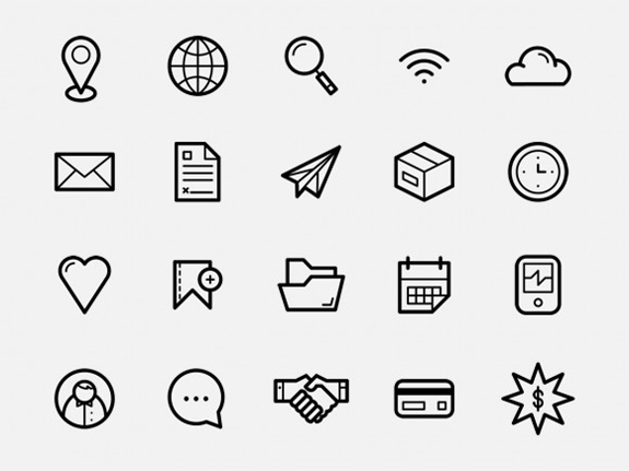 free-simple-icon-set
