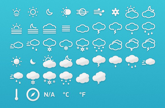 free-weather-icons-set