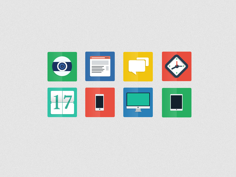 Freebie PSD Flat Icons