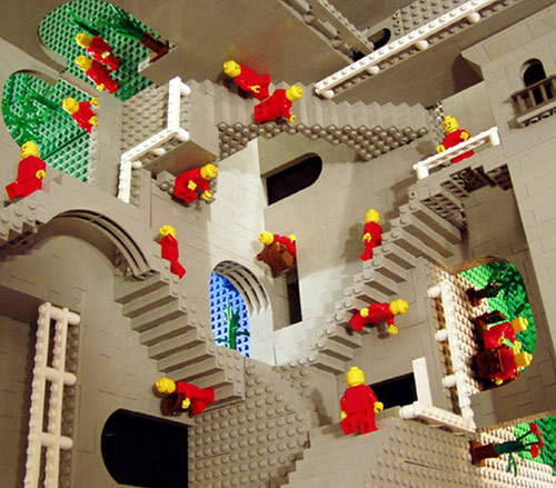 cool lego optical Illusions