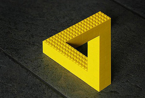 cool lego optical Illusion picture