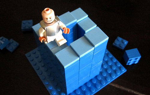 cool lego optical Illusions picture