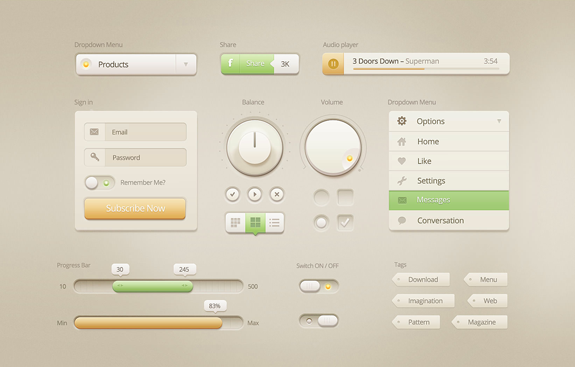 Vanilla Cream - Light UI Kit
