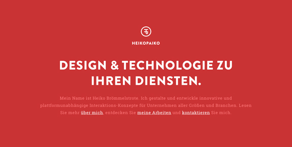 Single Page Web Design Inspiration