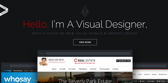 Single Page Web Designs Inspirations
