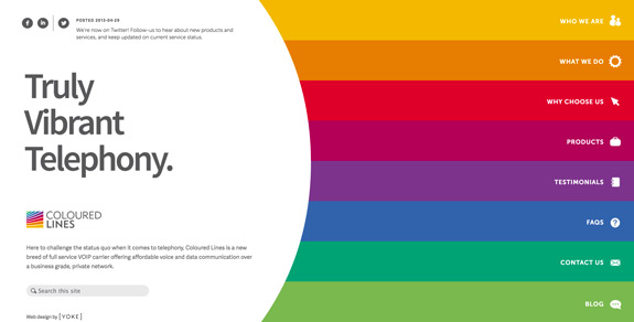 colourful web designs inspiration
