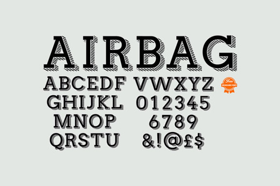 Airbag Free Typeface Download