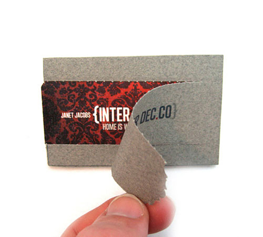 Unique Business Cards Design Example