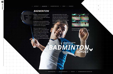 Badminton Website Design