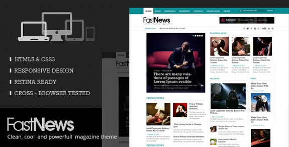 Fast News- Stylish WordPress Theme