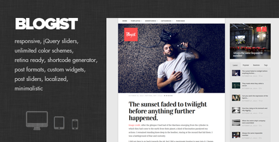 Blogist - Personal Blog theme