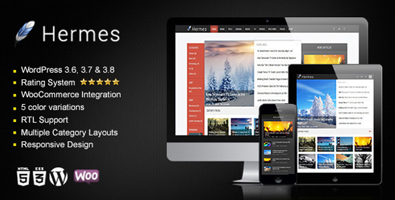 Hermes - Responsive WordPress Theme