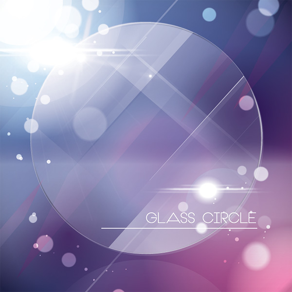 Glass Circle Vector Graphic