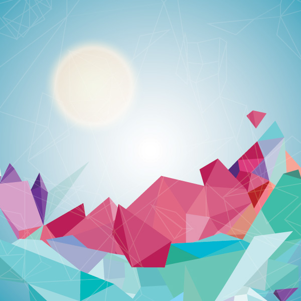 Geometric Landscape Vector Graphic