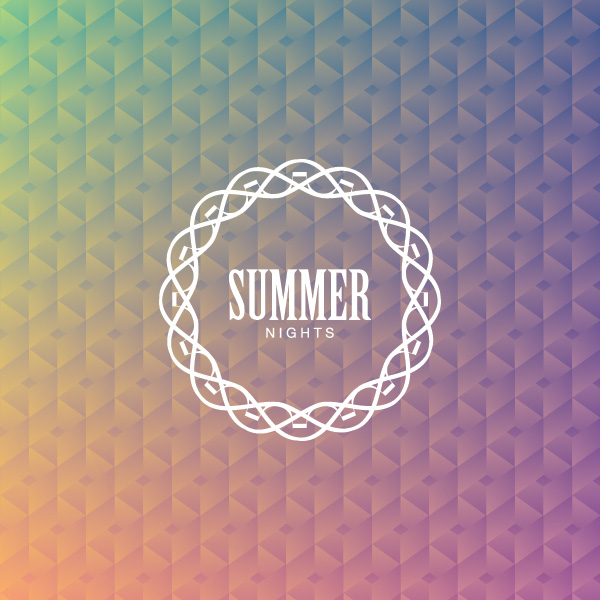 Summer Nights Vector Graphic