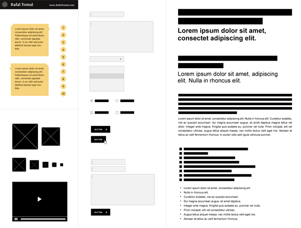 Free Photoshop Wireframe Kit