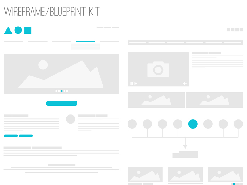 Wireframe / Blueprint Kit