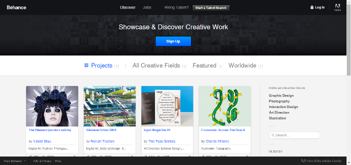 behance website